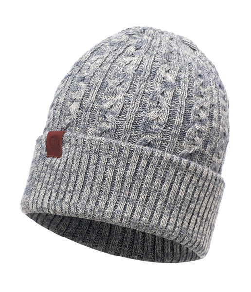 BRAIDY GREY KNITTED HAT