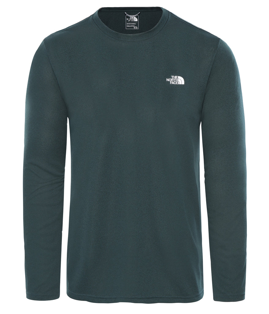 MEN'S REAXION AMP L/S CREW - PONDEROSA GREEN HEATHER