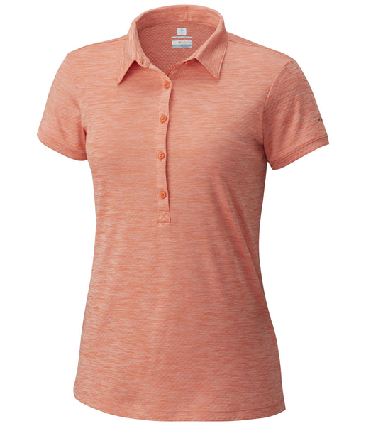 WOMEN'S ZERO RULES II POLO - ZING HEATHER