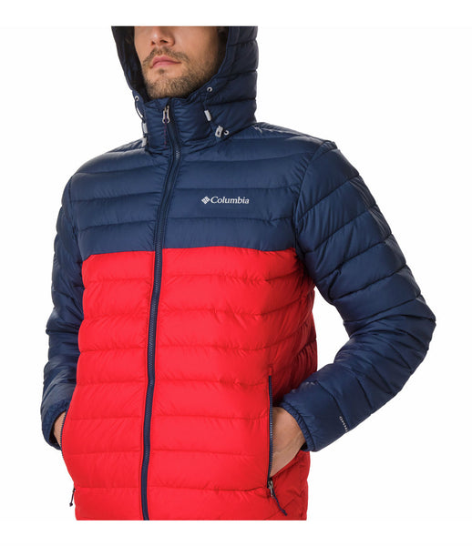 MEN'S POWDER LITE HOODED JACKET - MOUNTAIN RED