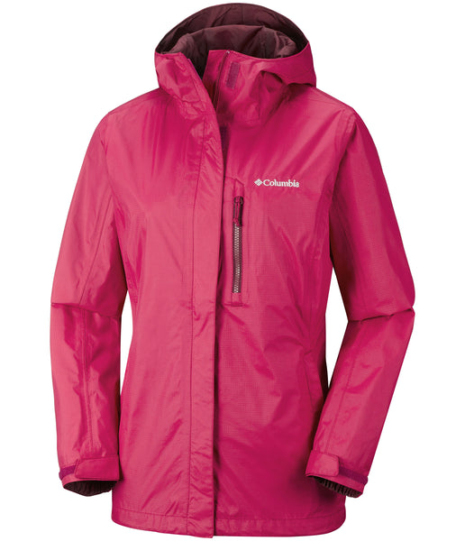 WOMEN'S POURING ADVENTURE II JACKET - POMEGRANATE