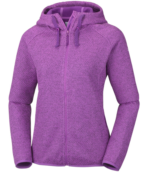 WOMEN'S PACIFIC POINT FULL ZIP HOODIE - BRIGHT LAVENDER