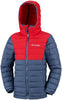 BOY'S POWDER LITE HOODED JACKET (AGES 10-16) - DARK MOUNTAIN