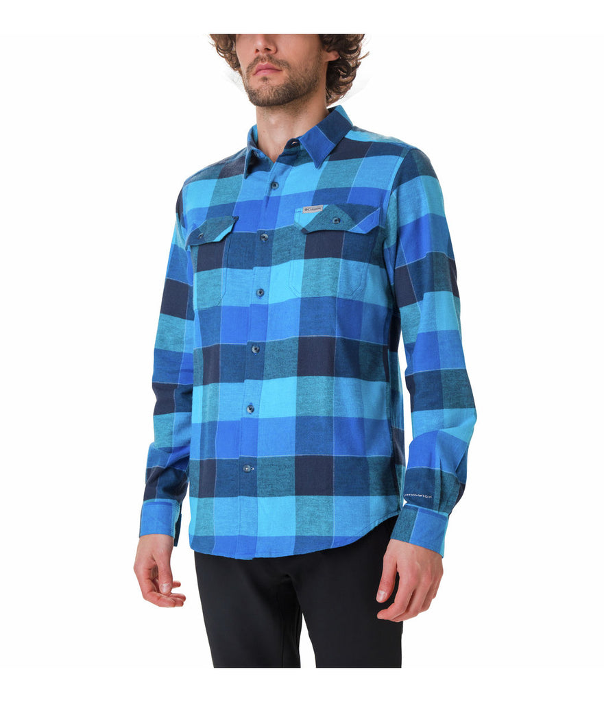 FLARE GUN STRETCH FLANNEL SHIRT - AZURE