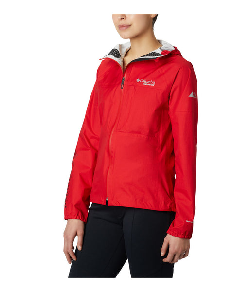 WOMEN'S ROGUE RUNNER WIND JACKET - RED SPARK