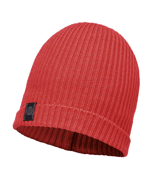 KNITTED HAT BASIC - CORAL