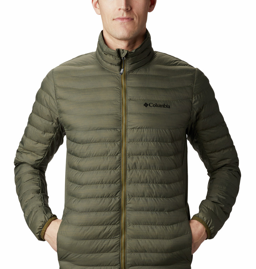 MEN'S POWDER PASS JACKET - NEW OLIVE HEATHER