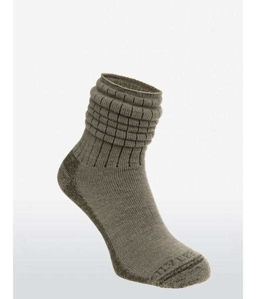 90% MERINO SOFT TOP HIKING & TRAVEL SOCK - GREEN