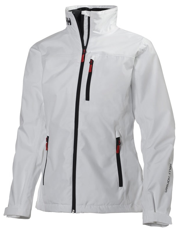 WOMEN'S CREW MIDLAYER JACKET - NAVY AND WHITE