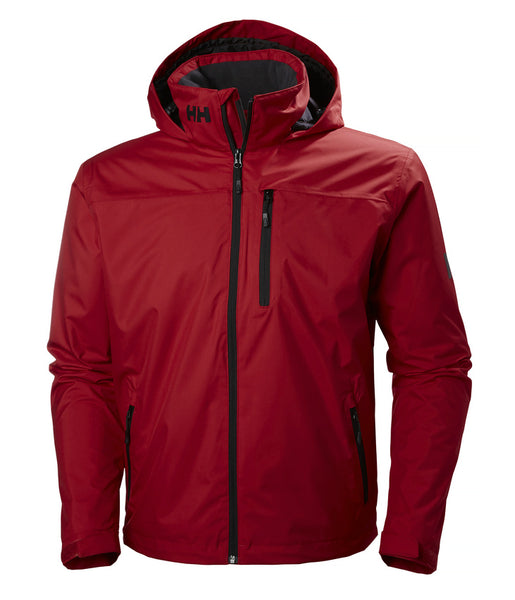 CREW HOODED MIDLAYER JACKET - ALERT RED