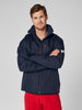CREW HOODED MIDLAYER JACKET - NAVY