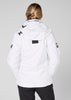 WOMEN'S CREW HOODED MIDLAYER JACKET - WHITE