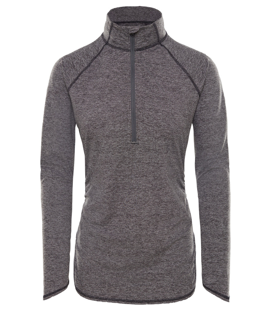WOMEN'S MOTIVATION STRIPE 1/2 ZIP - TNF BLACK