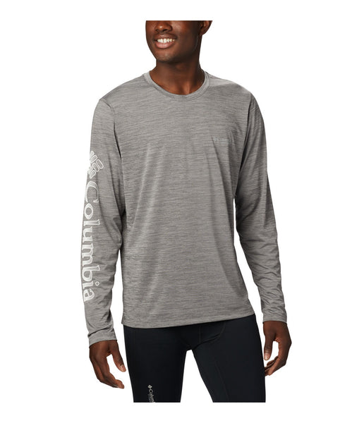 MEN'S TRINITY TRAIL II LONG SLEEVE TOP - CITY GREY