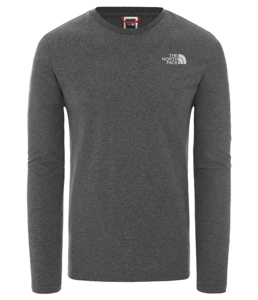 MEN'S L/S EASY TEE- - TNF MEDIUM GREY HEATHER