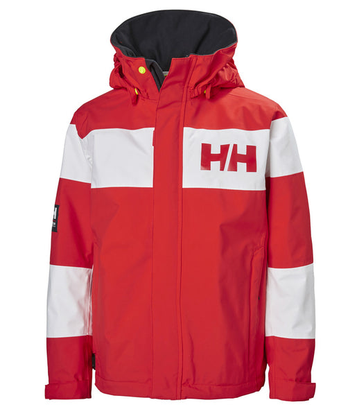 KID'S SALT PORT JACKET - ALERT RED (AGES 8 & 10)