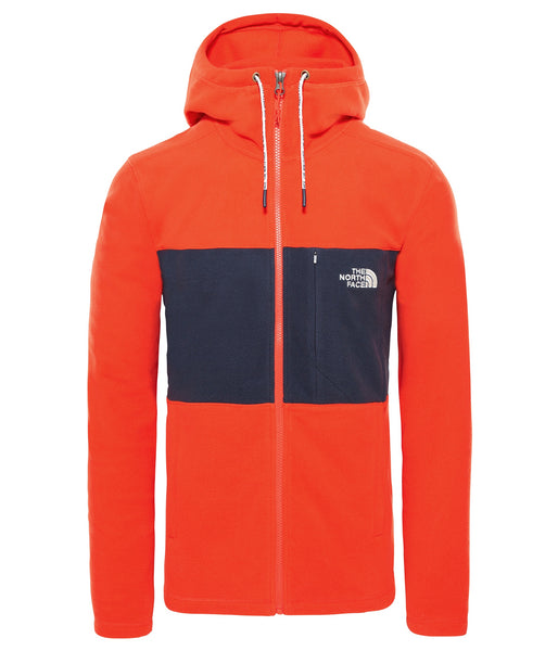 MEN'S BLOCKED TKA F/Z HOODIE - FIERY RED/URBAN NAVY