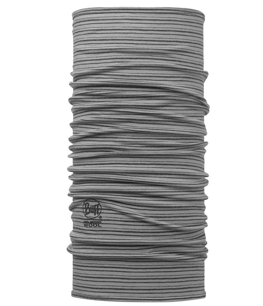 MERINO WOOL BUFF - LIGHT GREY STRIPE