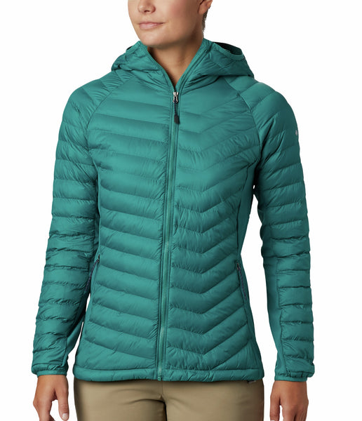 WOMEN'S POWDER PASS HOODED JACKET - WATERFALL