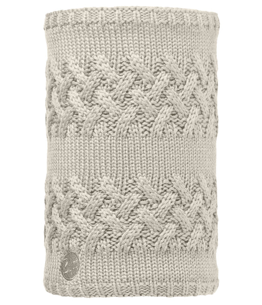 SAVVA CREAM/GREY VIGORE [NECKWARMER KNITTED & POLAR REV]