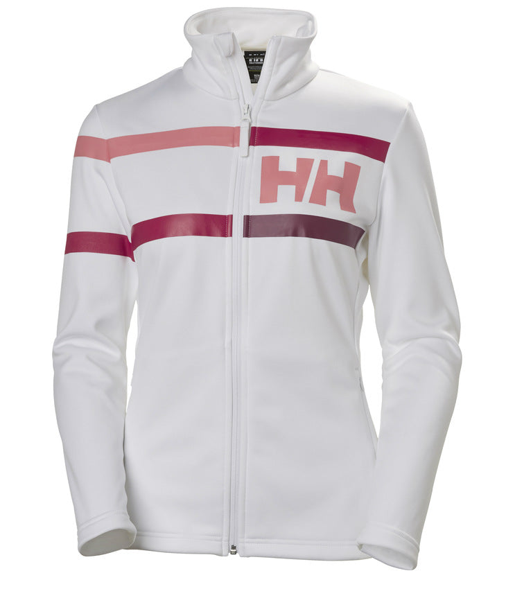 WOMEN'S GRAPHIC FLEECE JACKET - WHITE