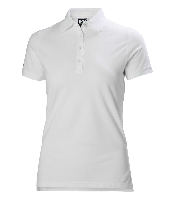 WOMEN'S CREW PIQUE 2 POLO - WHITE