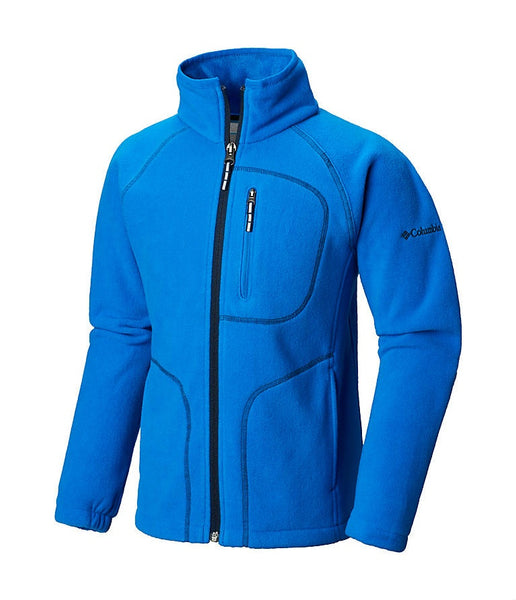 KID'S FAST TREK II FULL ZIP FLEECE - SUPER BLUE, COLLEGIATE NAVY