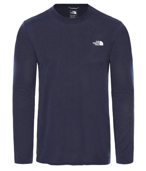 MEN'S REAXION AMP L/S CREW - MONTAGUE BLUE HEATHER