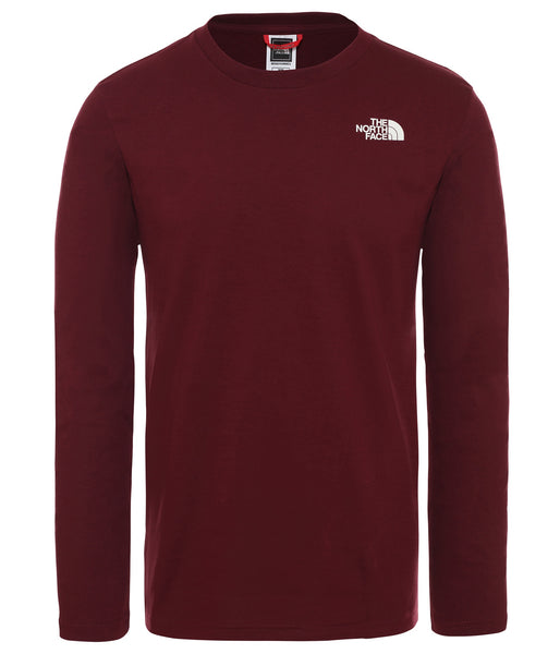 MEN'S L/S EASY TEE - GARNET RED