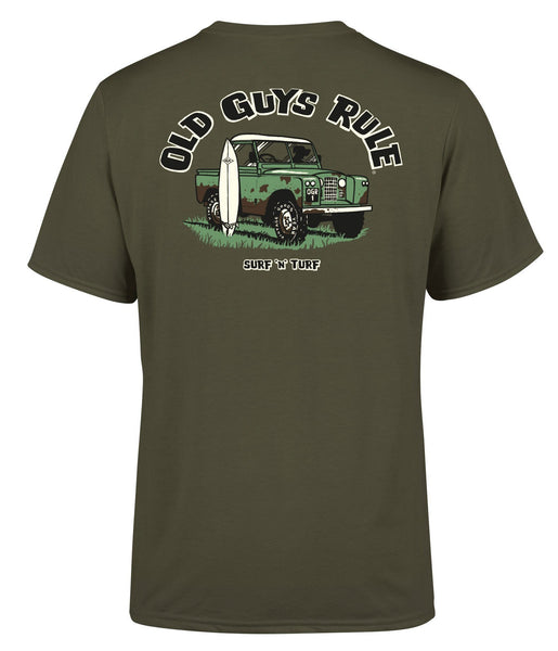 SURF N' TURF TEE - MILITARY GREEN