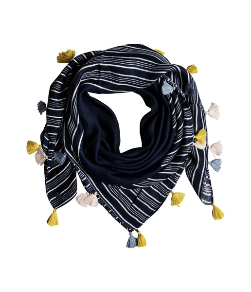 TAKE A RIDE TASSEL SCARF