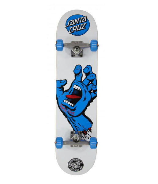 Santa Cruz Complete Screaming Hand White/Blue 7.75 IN