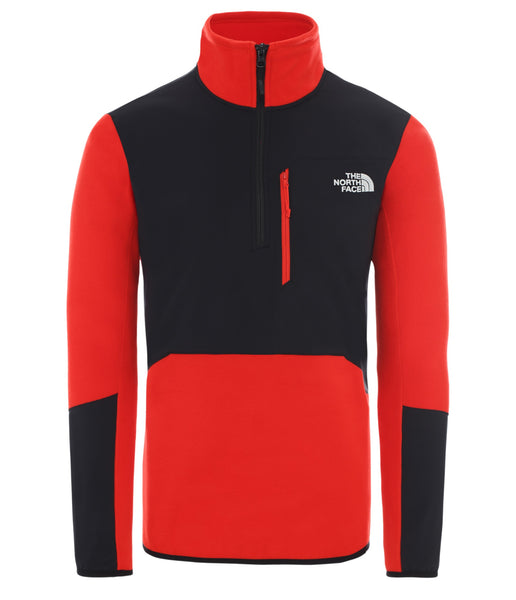 MEN'S GLACIER PRO 1/4 ZIP FLEECE - FIERY RED/TNF BLACK