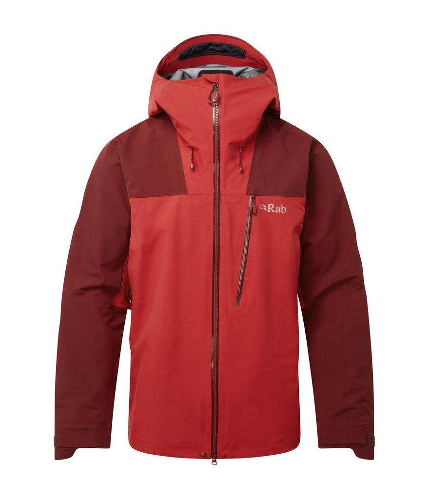 LADAKH GORETEX JACKET - OXBLOOD RED/ASCENT RED