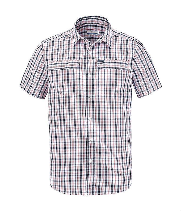 MEN'S SILVER RIDGE 2.0 MULTI OLAID S/S SHIRT - BLACK GINGHAM