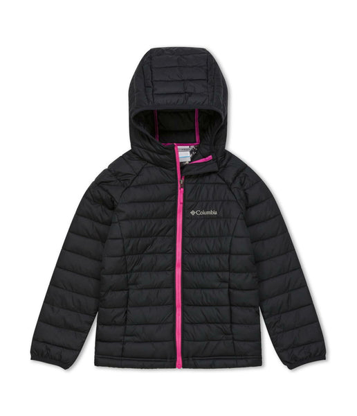 GIRL'S POWDER LITE HOODED JACKET (AGES 10-16) - BLACK