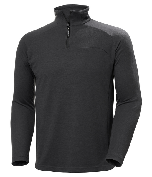 HP 1/2 ZIP PULLOVER - EBONY
