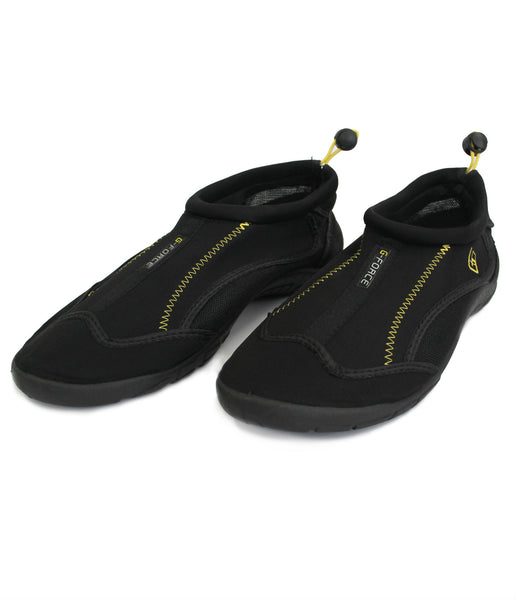 AQUA SHOE - BLACK/YELLOW