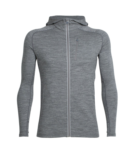 MEN'S QUANTUM LS ZIP HOOD /GRITSTONE HEATHER