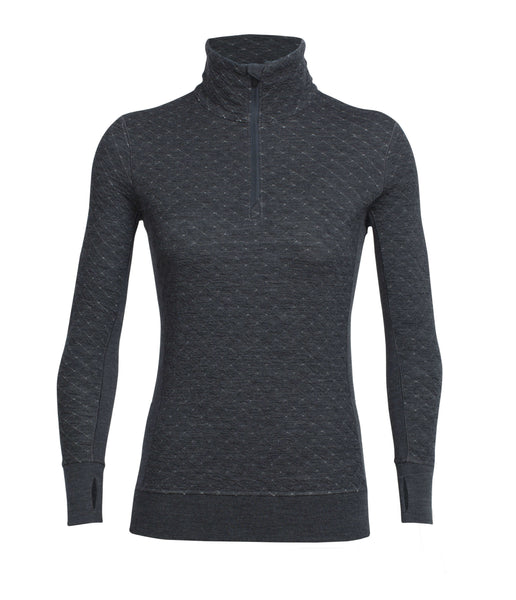 WOMEN'S AFFINITY THERMO LS HALF ZIP - JET HEATHER