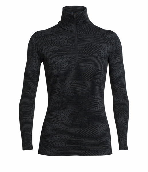 WOMEN'S VERTEX LS HALF ZIP - BLACK JET HEATHER
