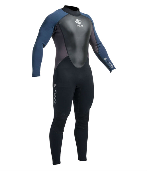 MEN'S G-FORCE 3MM FLATLOCK FULL WETSUIT - BLACK/NAVY