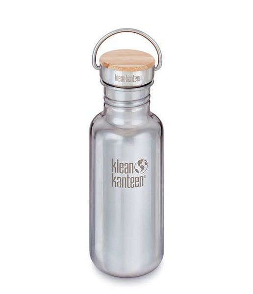 REFLECT SINGLE WALL STAINLESS STEEL/BAMBOO BOTTLE - 532ML
