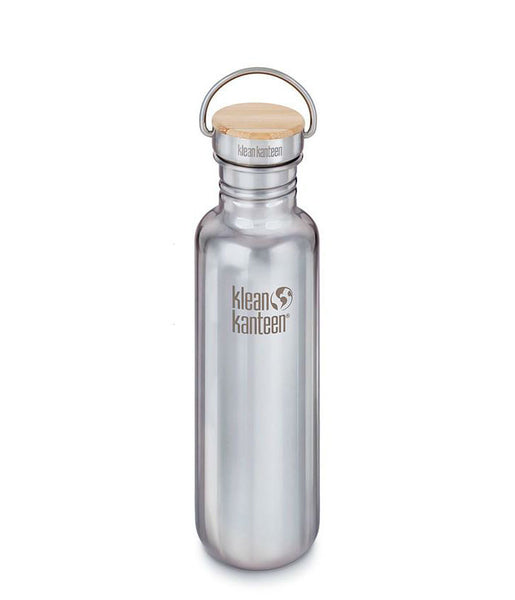REFLECT SINGLE WALL STAINLESS STEEL/BAMBOO BOTTLE - 800ML