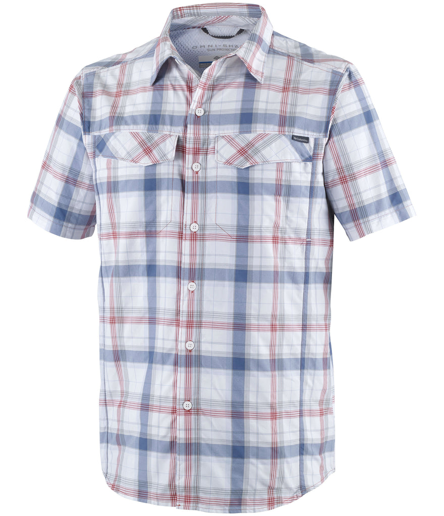 SILVER RIDGE MULTI PLAID SHORT SLEEVE SHIRT - SUNSET RED