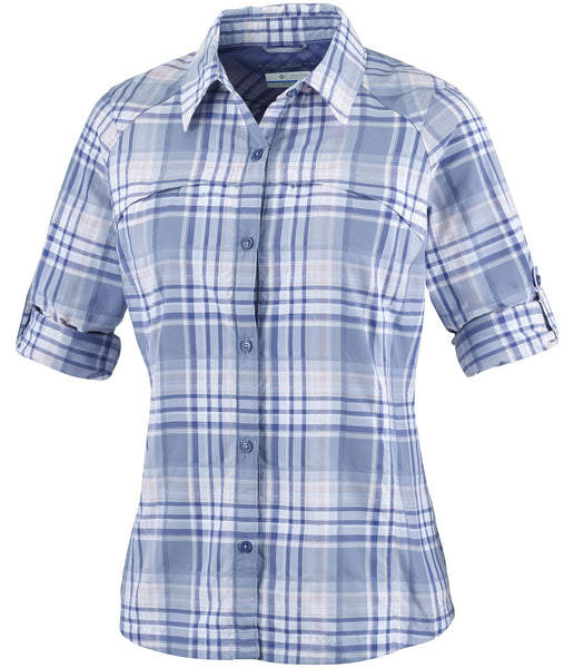 WOMEN'S SILVER RIDGE PLAID LONG SLEEVE SHIRT - BEACON DOBBY