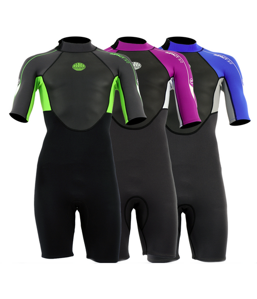 IMPACT SHORTIE 3/2MM JUNIOR WETSUIT - AGES 12 TO 16