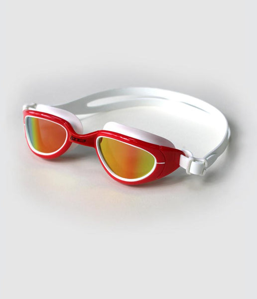 ATTACK SWIM GOGGLES - POLARIZED LENS - RED/WHITE - OS
