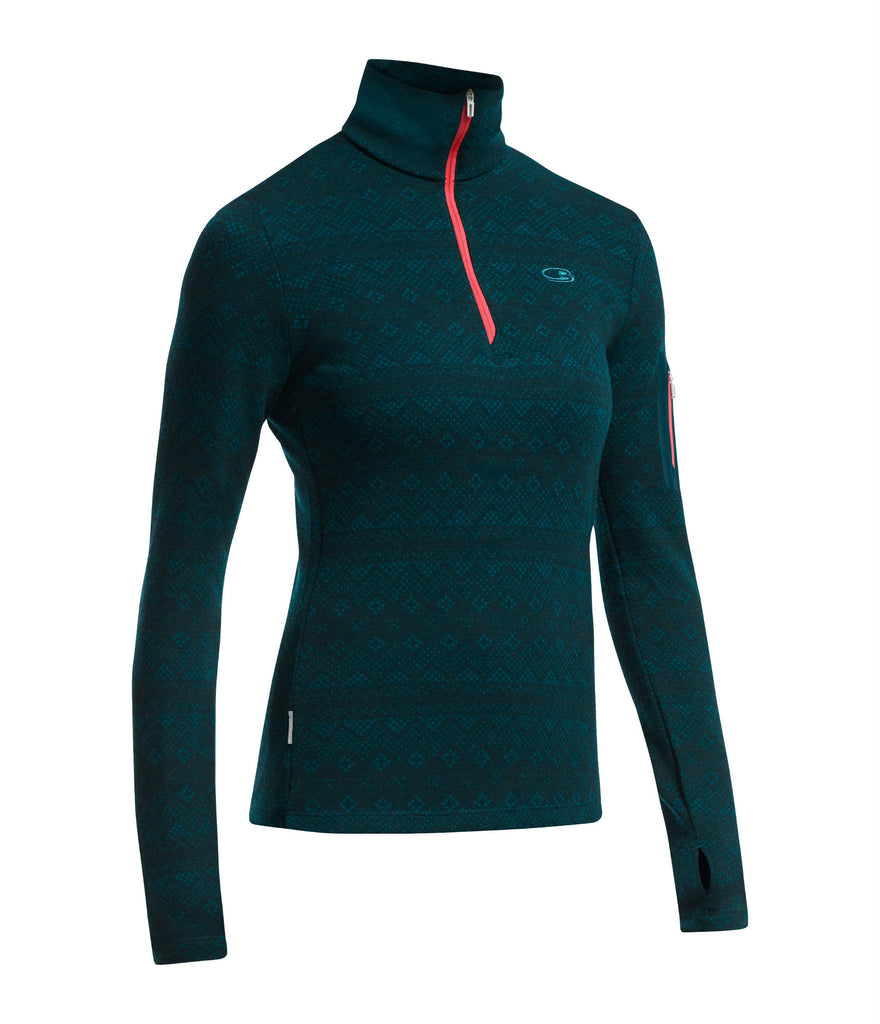 WOMEN'S VERTEX HALF ZIP FAIRISLE
