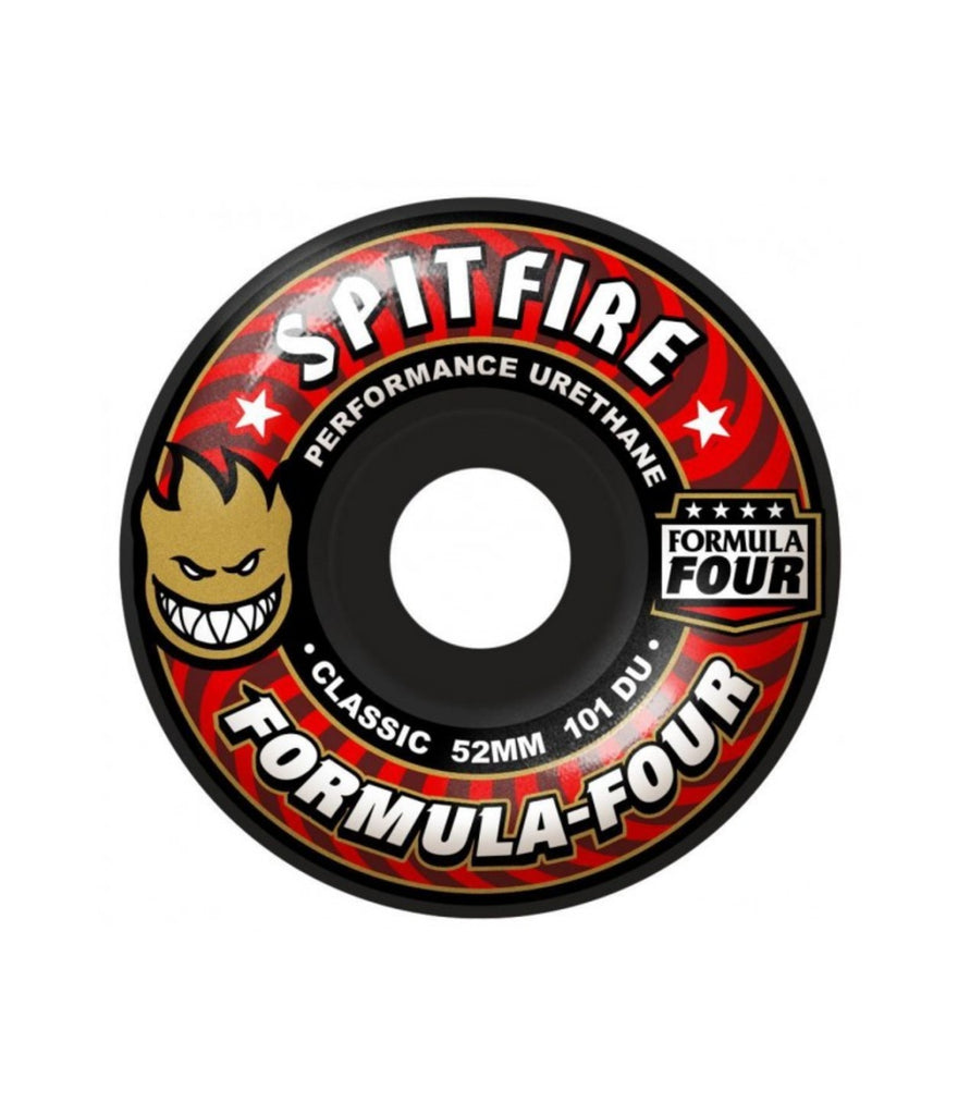 SPITFIRE FORMULA FOUR WHEELS CLASSIC - 101DU - BLACK - 52MM